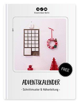 """Coverbild des Freebooks """"Adventskalender mit Schnittmuster & Nähanleitung"""""""