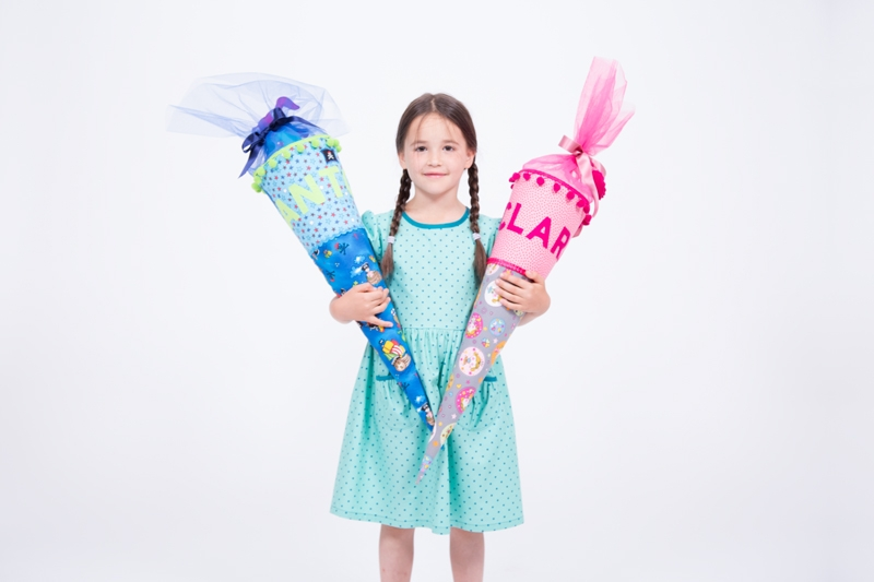 Bild der Schultüte mit Applikation von Pattydoo für Mädchen und Jungen