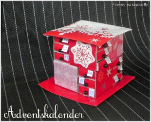 Titelbild DIY Tutorial für einen Adventskalender aus Streichholzschachteln von Vervliest & Zugenäht