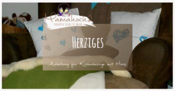 Titelbild der Nähanleitung für Kissenbezüge mit Herz von Mamahoch2
