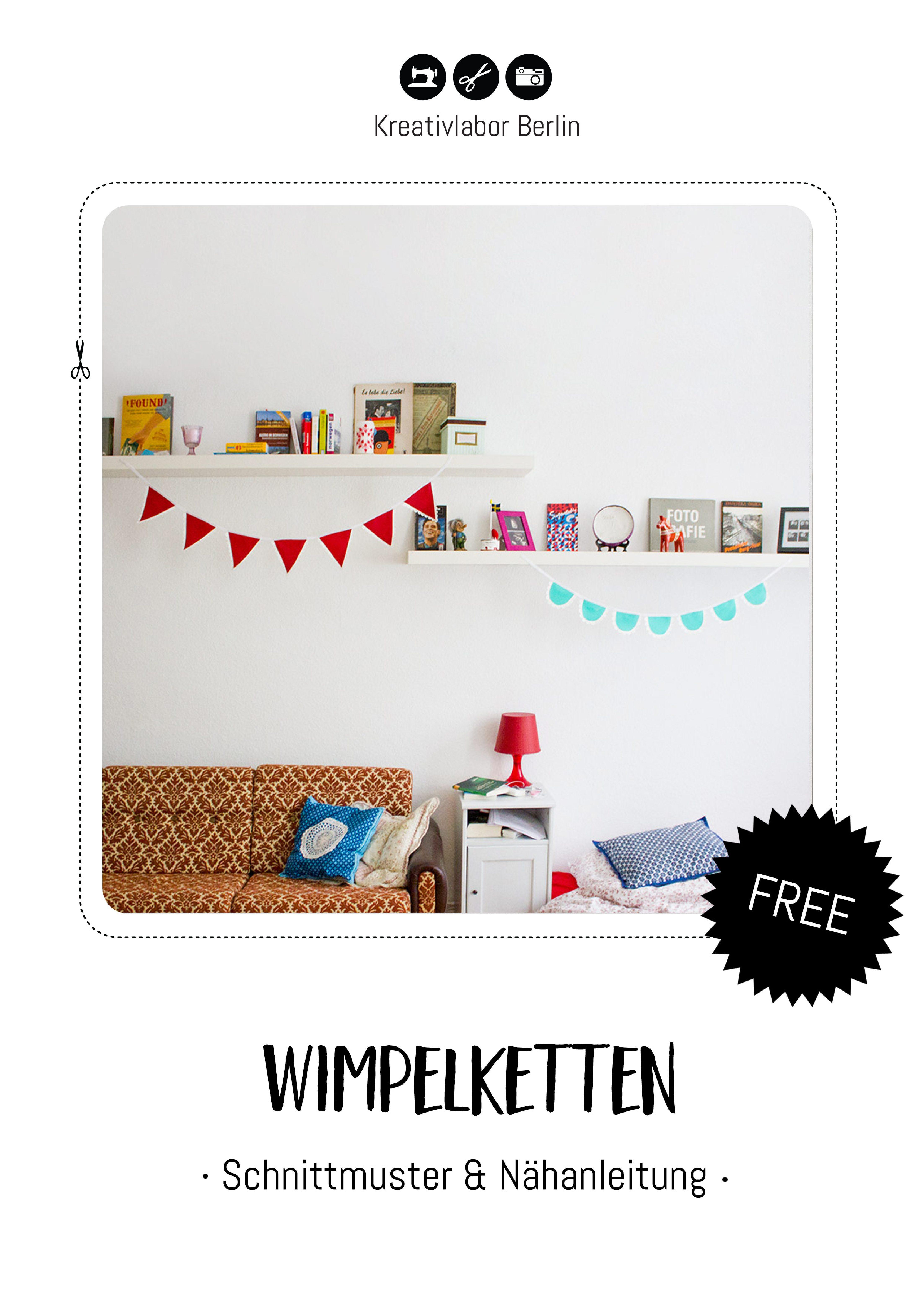 Bunte Wimpelketten aus Kunstleder von Kreativlabor Berlin