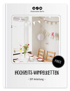 Beitragsbild für das Schnittmuster und die Nähanleitung für Hochzeits-Wimpelketten von Kreativlabor Berlin