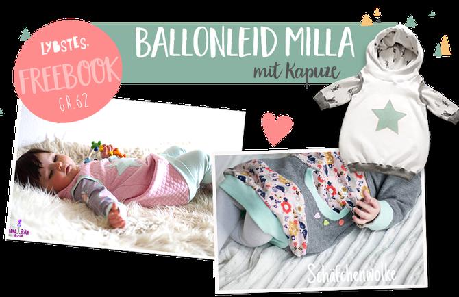 """Kostenloses Schnittmuster des Ballonkleids """"Milla"""" (Gr. 62) von Lybstes"""