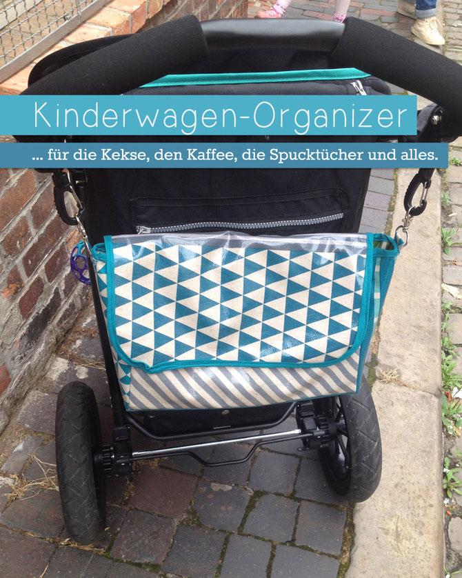 Kostenloses Nähtutorial für einen Kinderwagen Organizer aus Wachstuch von Lybstes