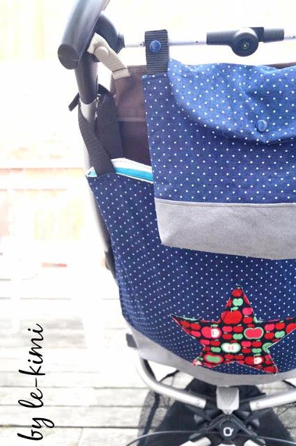 Das Schnittmuster für die Buggy Tasche Travis von Le-Kimi ist ideal für den Kinderwagen und Buggy.