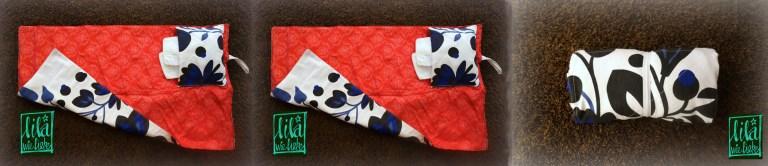 Kostenloses Nähtutorial für Wickelunterlage mit Tasche von Lila wie Liebe