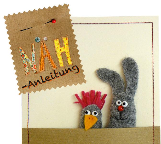 """Kostenloses Schnittmuster für Fingerkuppen """"Hase und Huhn"""" von Ideen ..."""