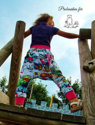 """Schnittmuster der Kinder Pumphose """"Pump-Leg"""" von LieLie's Pumpbär - Kostenloses Schnittmuster für Babys und Kinder"""