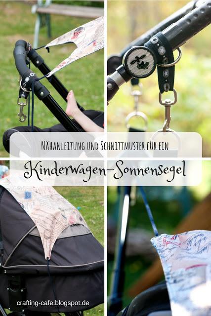 Kostenloses Schnittmuster für ein Sonnensegel für einen Kinderwagen von The Crafting Café