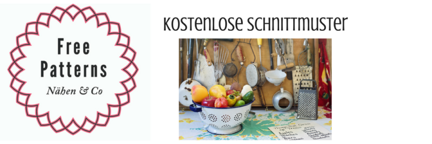 Logo Free Patterns für Schnittmuster rund um das Thema Küche