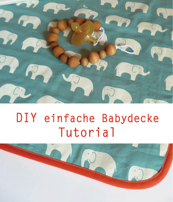 Tutorial für eine einfache Babydecke von Emmy Lou Makes