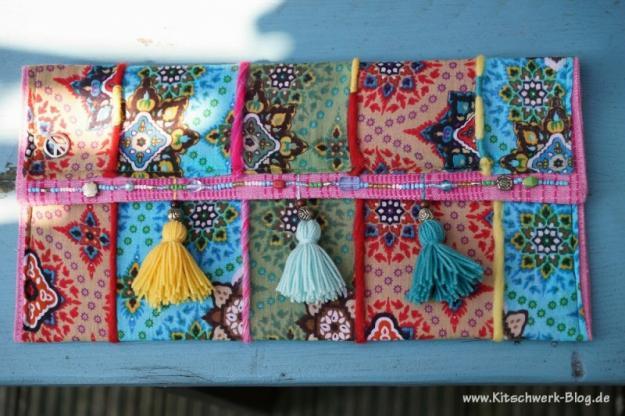 Nähanleitung für Hippie Clutch von Kitschwerk