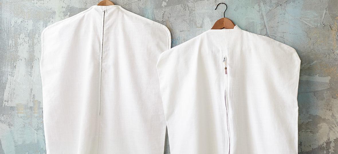 Kostenloses Schnittmuster für einen Kleidersack von stoffe.de