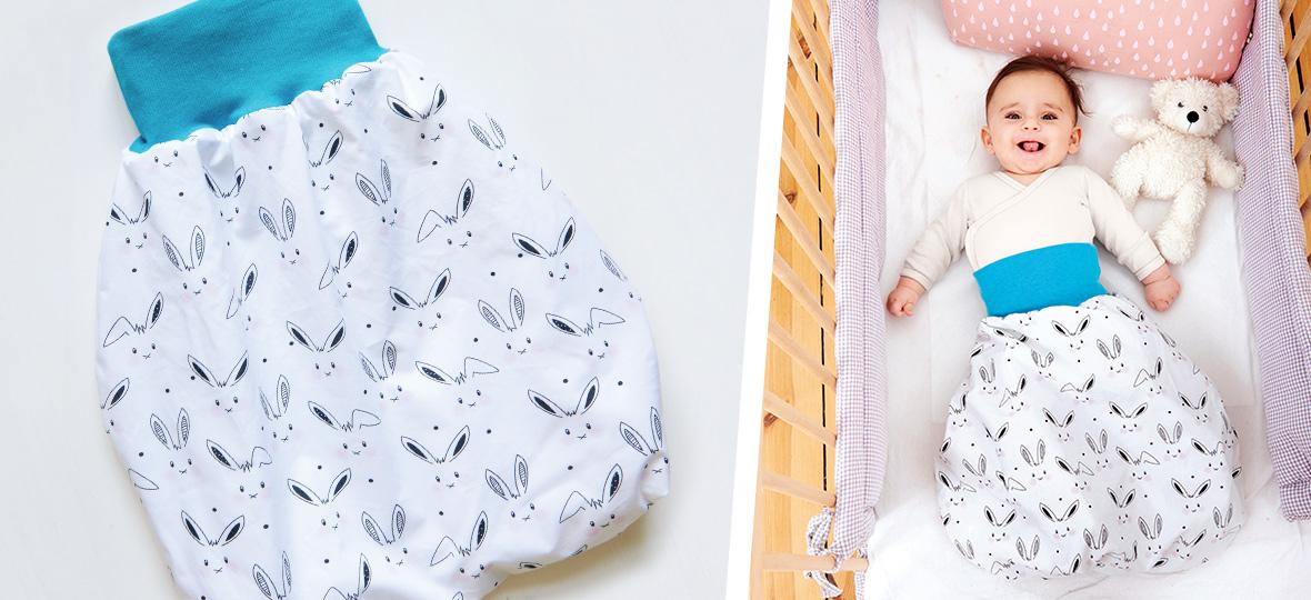 Schnittmuster Pucksack für Babys (0-6 Monate) von stoffe.de