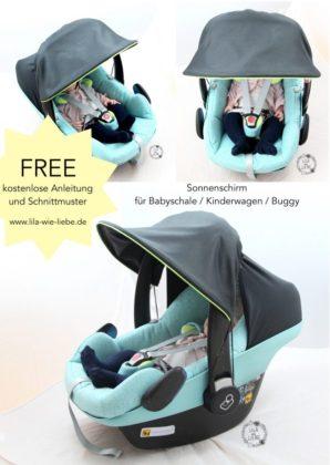 Schnittmuster Sonnenschirm – Sonnenschutz für Babyschale & Co von ...