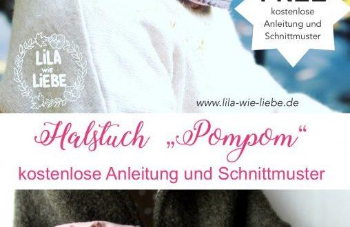 """Schnittmuster Halstuch """"Pompom"""" von Lila wie Liebe"""