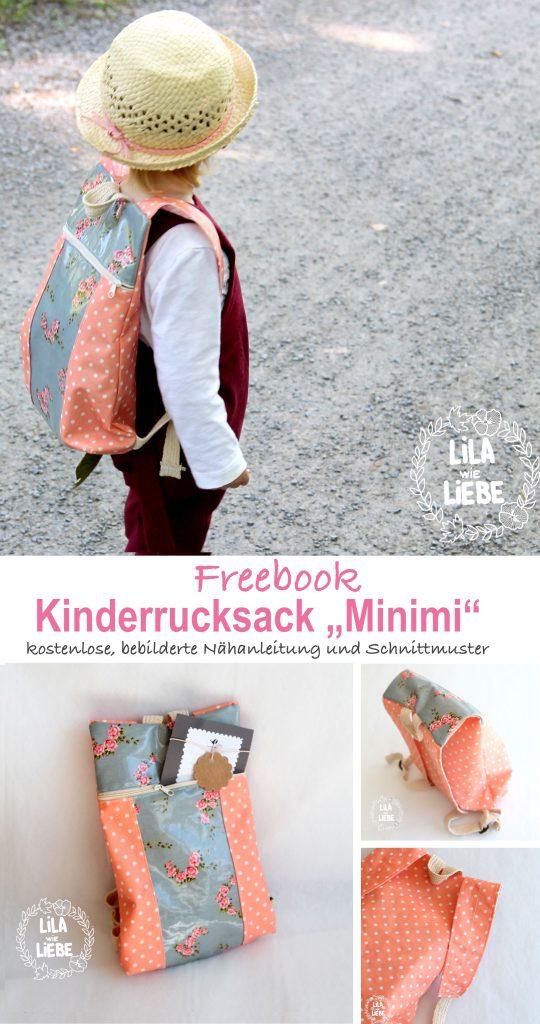 """Schnittmuster Kinderrucksack """"Minimi"""" von Lila wie Liebe"""