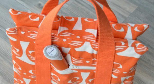 Nähanleitung Tasche für interaktives Buch von Rheinstich