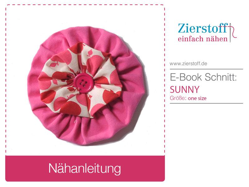 Kostenloses Schnittmuster Blumenbrosche von Zierstoff.