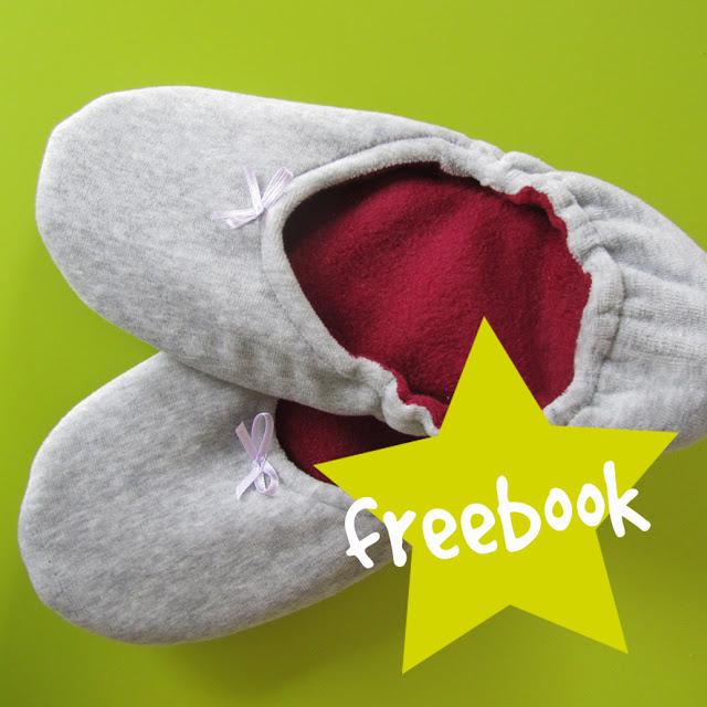 Gratis Schnittmuster Hausschuhe für Babys, Kinder und Erwachsene von Kits4Kids.