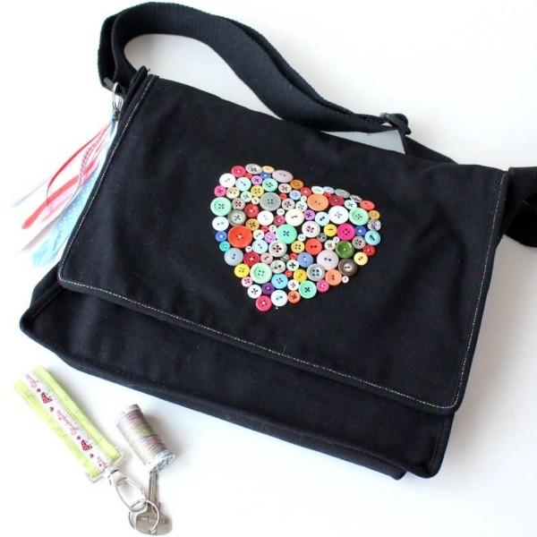 Nähanleitung für Tasche mit Knopfherz von Sulky – 100% kostenlos