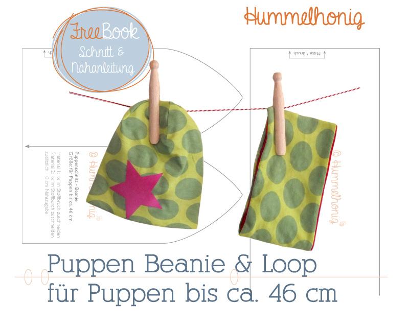 Kostenlose Schnittmuster Puppen Beanie & Loop (Bis ca. 46cm) von Hummelhonig
