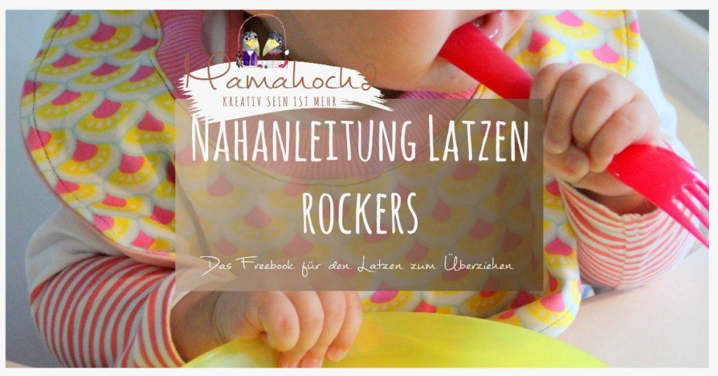 """Gratis Schnittmuster Babylätzchen """"Latzen Rockers"""" von Mamahoch2"""