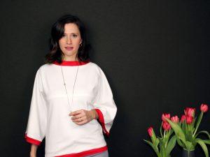 Kostenloses Schnittmuster für DIY Shirt mit XL Ärmel (Größe 36-52) von Stilweg