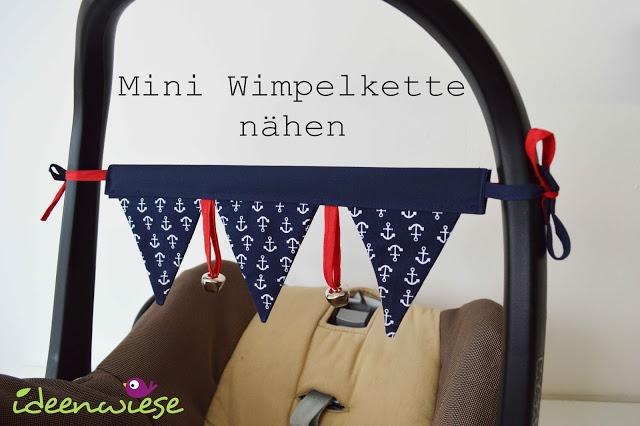 Gratis Schnittmuster für Mini Wimpelkette von Ideenwiese