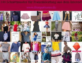 Kostenlose Schnittmuster Frauen – Damenkleidung nähen mit 100 gratis Schnittmustern