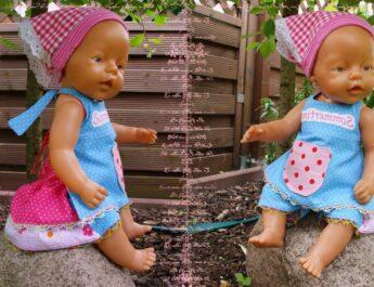 Kostenloses Schnittmuster Latzkleid EMILY für Puppen (38, 43, 48 & 53cm) von Mamu Design