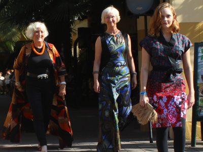 Drei Models mit Mode von Rama Diaw.